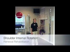 Shoulder Resisted Four Way Band Exercises For Physical Therapy Rehabilit...