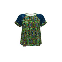 Hey June Handmade Santa Fe Top made with Spoonflower designs on Sprout Patterns. This Santa Fe Top uses Bruxamagica