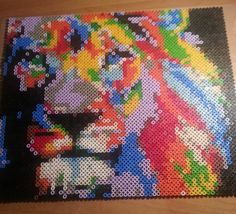 Colorful lion - Hama perler art by piazobel on DeviantArt