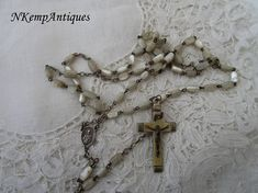 Shell rosary Mother of pearl 1920's