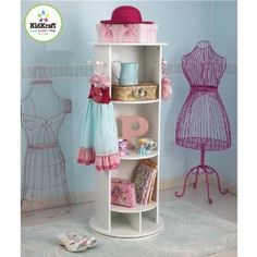 """Swivel Vanity.. I think I'm going to go on a """"treasure hunt"""" in some resale shops & see if I can create this for my girls dress up area :)"""