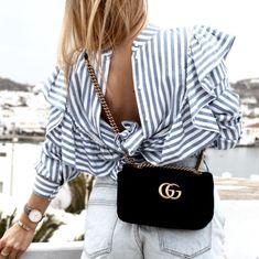 Gucci Velvet GG Marmont Bag 1