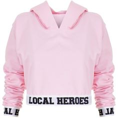 Local Heroes LH Cropped Hoodie (2.205 UYU) ❤ liked on Polyvore featuring tops, hoodies, jackets, shirts, sweatshirts, casaco, hoodie crop top, pink cropped hoodie, hoodie shirt and crop tops