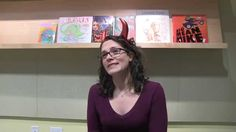 Author Michelle Knudsen (in devilish horns) answers our five questions (plus one!) about Evil Librarian, her Fall 14 YA novel!