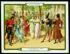 All sizes | French Tradecard - Costumes of 1800 | Flickr - Photo Sharing!