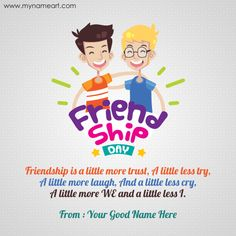 Happy Friendship Day With Cartoon Girl And Boy HD Wallpaper,Greeting HD  Wallpaper,Happy Friendship Day HD Wallpaper Andu2026 | Friendship Day |  Pinterest ...