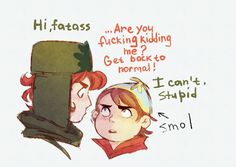 "So i have this headcanon where Kyle suddenly got taller and when Cartman noticed it he was like ""??????um no????you can't possibly be taller than me?? is it some kind of spell?? hurry up, we have to find the antidote????? damn he's hot tho"""