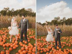 Obsessed with the pumpkins! A New York City Fall Farm Wedding: Tiffany + Jon