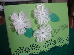 Embossed card and vellum.