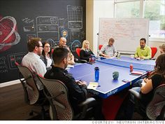Why not hold the next conference or meeting on a ping pong table?