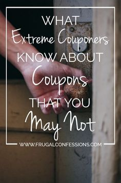 Some tips from Extreme Couponing that we can apply to our grocery shopping…