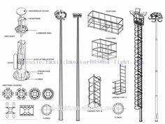 Image result for high mast light poles