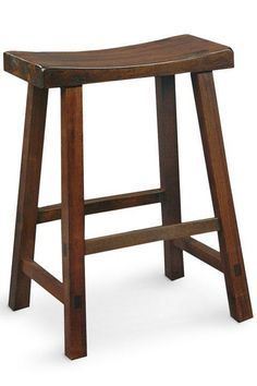 counter stool has a casual style that can go from kitchen to workroom to recreation room. Crafted of solid hardwood, the expert workmanship and quality materials of our Saddle Seat Counter Stool ensure years of dependable use. Contoured seat for added comfort.