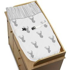 Changing Pads and Covers 66674: Changing Table Pad Cover For Sweet Jojo Grey White Woodland Deer Baby Bedding -> BUY IT NOW ONLY: $30.99 on eBay!
