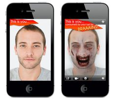 The Zombie Booth app turns any photo of you into a zombie. Ahhhh!