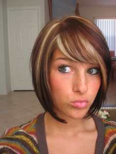 brown with the red and blonde highlights