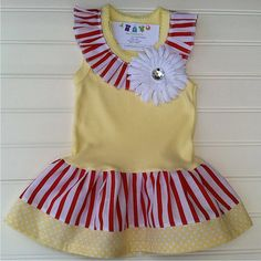 SALE Big Top Circus Dress Available 03 months by BabyThreadsByLiz, $16.95