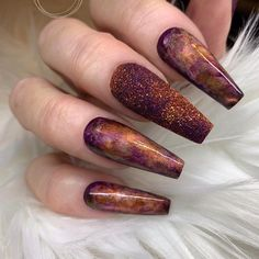Want some ideas for wedding nail polish designs? This article is a collection of our favorite nail polish designs for your special day. Colorful Nail Designs, Beautiful Nail Designs, Cute Nail Designs, Dope Nails, Swag Nails, Fun Nails, Grunge Nails, Fall Acrylic Nails, Fall Nail Art
