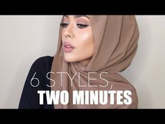 6 Quick & Easy Ways to Style Chiffon/Georgette Hijabs, Without Pins! | MishaArtistry - YouTube