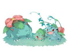 venusaur, bulbasaur y ivysaur