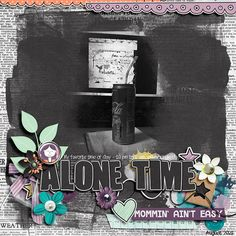 Alone Time, Shadow Box, Digital Scrapbooking, How To Find Out, Make It Yourself, Creative, Sweet, Summer, Candy