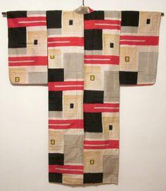 Bauhaus-like kimono, back   Daily Japanese Textile  IMG_9399