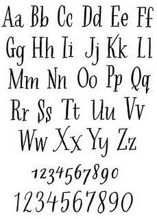 Hand lettered serif