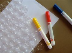 How to make a travel bubble wrap game.  When the child spots the picture under the bubble, they get to pop it!