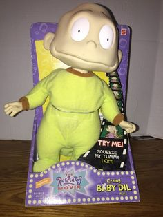 Nickelodeon Rugrats Movie Crying Baby DIL Pickles Doll Matell 1998 New in Box | eBay