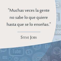 Cerramos la semana del #MarketingPredictivo con un pensamiento de Steve Jobs. Por tu experiencia, ¿qué opinás de esta frase? #SemanaMktPredictivo
