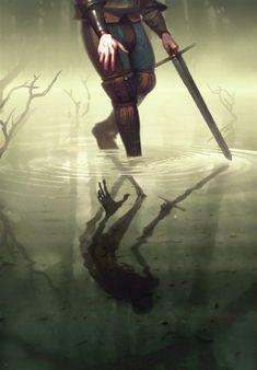 The Witcher/ Bekker's Dark Mirror/ Gwent Card/ Neutral Fantasy Inspiration, Story Inspiration, Character Inspiration, Character Art, Medieval Fantasy, Dark Fantasy, Fantasy Art, Medieval Art, Witcher Art