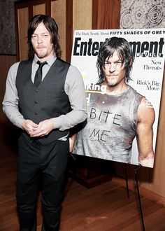 Norman Reedus attends an intimate dinner hosted by Entertainment Weekly to celebrate the magazine's 'The Walking Dead' cover story, 10 February, 2015