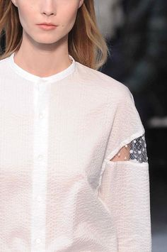 We adore this cute sleeve detail from #JulienDavid #PFW @Steve Benson Benson Benson Benson Barrus Amok Made