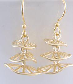 Gold Earrings  Dangle Widget Earrings  by FreshJewelryDesign, $24.00