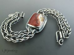 Some New Work, crazy lace agate bracelet and ocean jasper necklace.