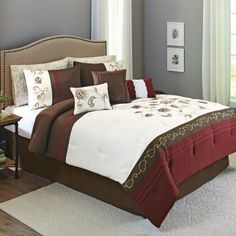 Better Homes and Gardens Davis Comforter Set, 9 Piece, Multicolor