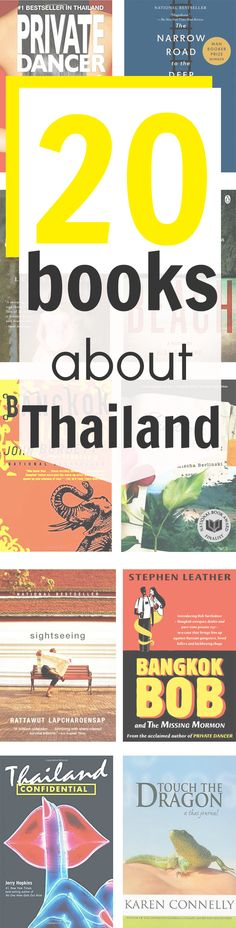 20 books about Thailand: novels, non-fiction and biographies plus children's books about Thailand