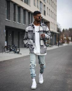 Black Men Street Fashion, Trendy Mens Fashion, Stylish Mens Outfits, Look Fashion, Black Men Summer Fashion, Fashion Men, Urban Street Style, Berlin Street Style, Street Styles