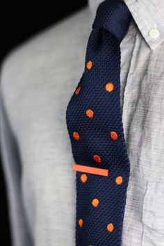 Knit Tie with Polka dots