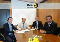 Mr. George Sivris is signing up with our Real Estate Office network to open a new   Bee real estate office.