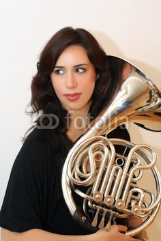 Pics For > Female French Horn Player