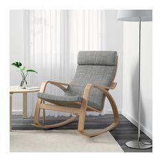 POÄNG Rocking-chair - Isunda grey, oak veneer - IKEA