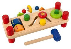 Encourage their curiosity with this multi-learning wooden toy! - I'm Toys Activity Bench
