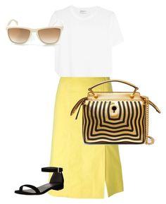 Sunshine type Vibe by amanda-lane-crammer on Polyvore featuring polyvore, fashion, style, Yves Saint Laurent, CÉLINE, Stuart Weitzman, Fendi, Versace and clothing