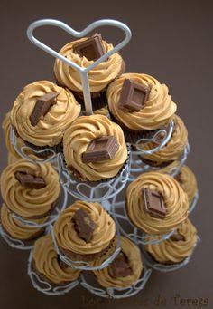 Los Postres de Teresa: Cupcakes de Chocolate & Dulce de Leche: Valor Crocan, una explosión de sabor.
