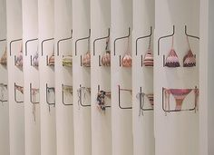 We all hate looking for bathing suits for the obvious reasons... but how annoying is it when they fall right off the hanger? Missoni in LA has come up with a display technique to combat this issue and give you a better idea of how the suit fits. #RetailDisplay