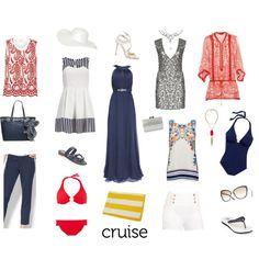"""20-Piece Cruise Travel Wardrobe"" by angelarcher5 on Polyvore"