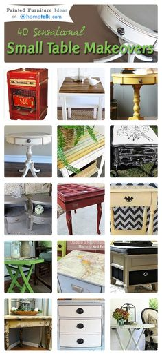 40 Sensational Small Table Makeovers | curated by 'Painted Furniture Ideas' blog!---Corner Table link is here