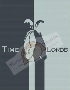 Time Lords - Written Pattern, Graphghan, Dr Who, Bad Wolf, Torchwood, Tardis, Police Box by MamaShawns on Etsy
