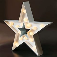 Marquee Sign, Marquee Lights, Led Star Lights, Star Christmas Lights, Light Wall Art, White Table Top, Home Decor Lights, Star Decorations, Christmas Decorations